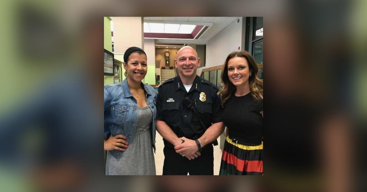 Nicole Bateman, Chief Getz and Amber Kaylor on Stop, Look
