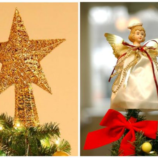 A Star For Christmas.Is It An Angel Or A Star On Top Of The Christmas Tree